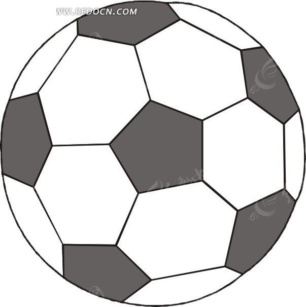 手绘灰白足球