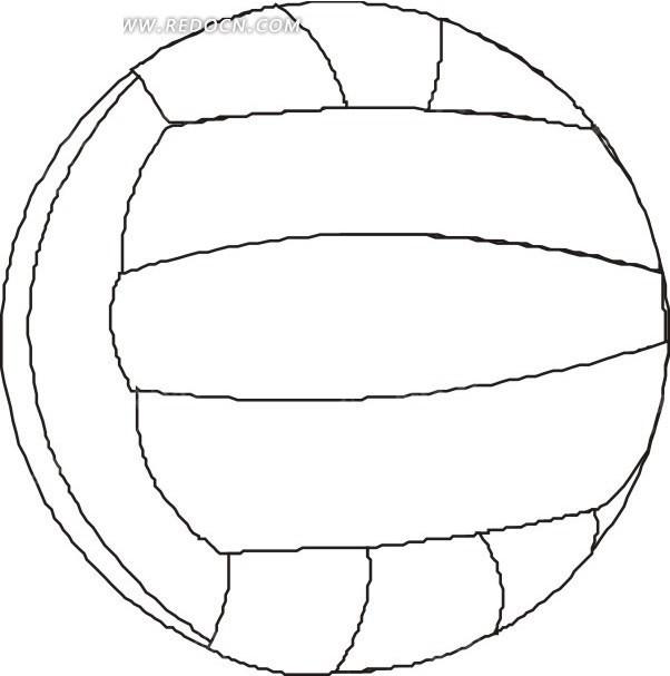 简笔画排球