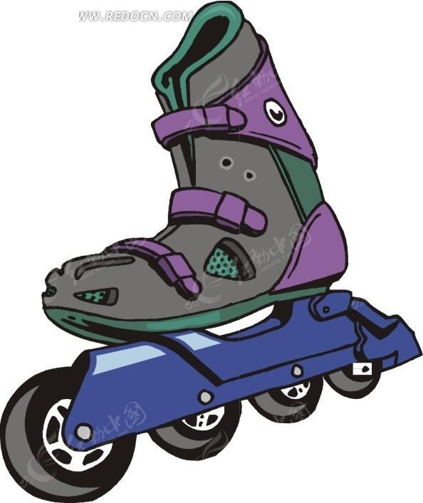 手绘滑轮鞋
