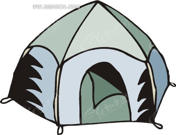 手绘帐篷图片