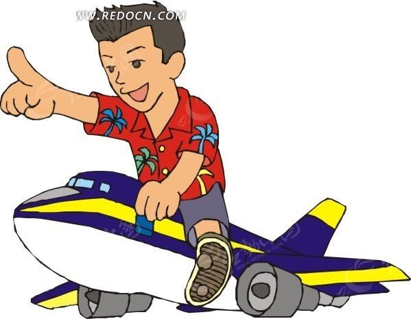 飞机儿童卡通图片