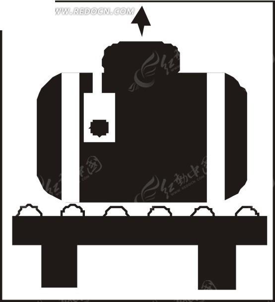 运输带上的黑色皮箱矢量图eps免费下载_体育运动素材