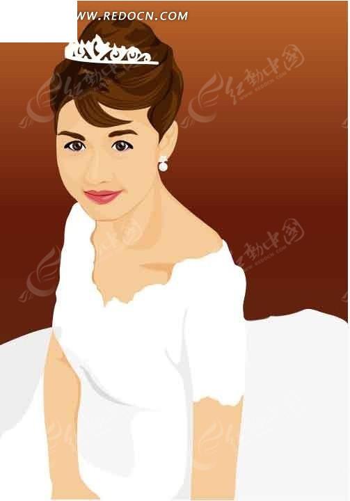 戴着王冠的卡通美女ai免费下载_女性女人素材