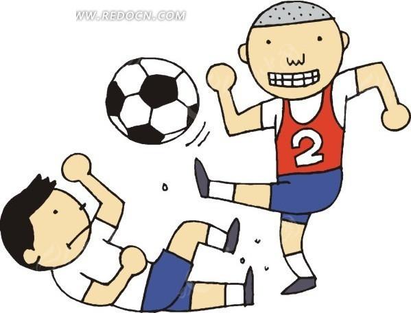 卡通人物和足球