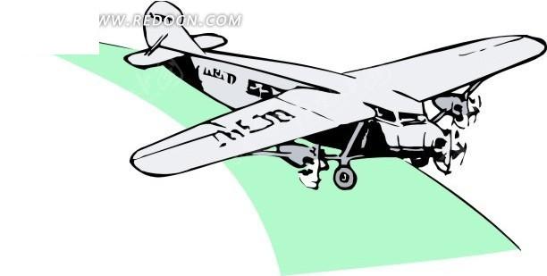 手绘飞机矢量图_体育运动