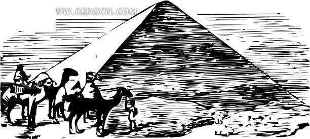 手绘金字塔矢量图_体育运动