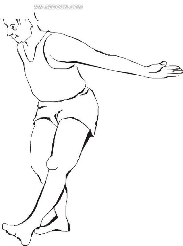 手绘健身简笔画