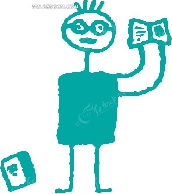 小孩上学手绘画