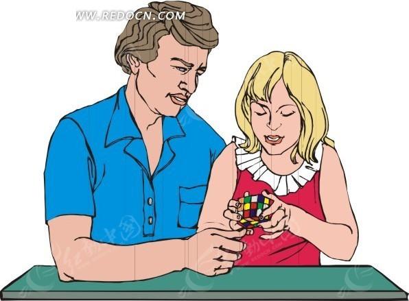 父女玩玩具; 地球卡通简笔画图片分享;