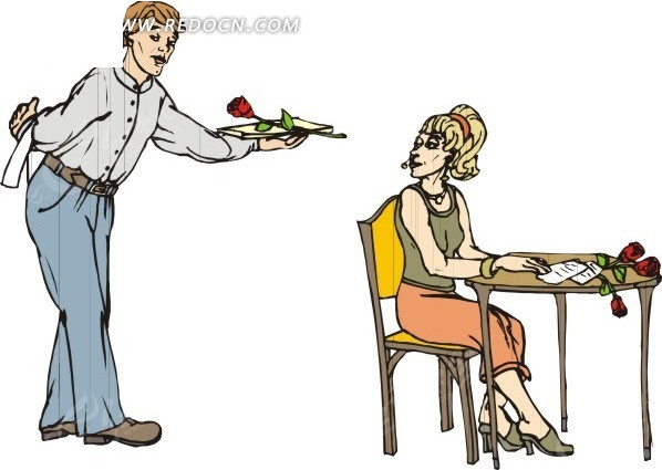 男朋友女生给女朋友成长胸的送花图片