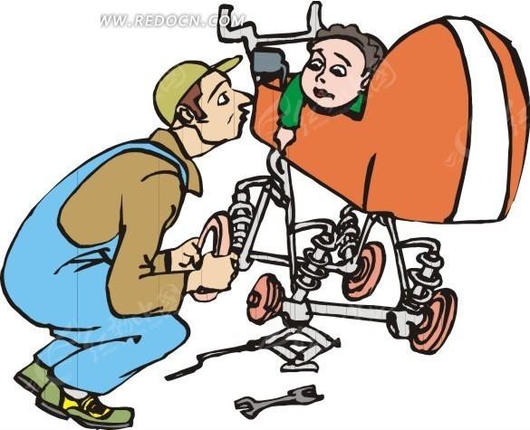 汽车维修图片卡通