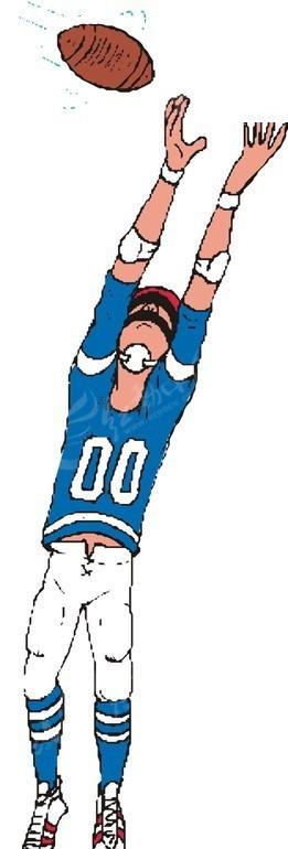 卡通人物和橄榄球矢量图_体育运动