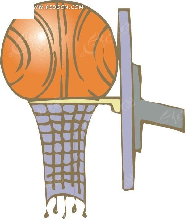 篮球框和五个篮球 手绘篮球框和篮球