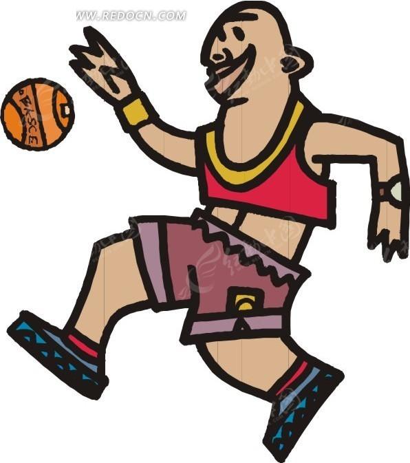打篮球的小孩
