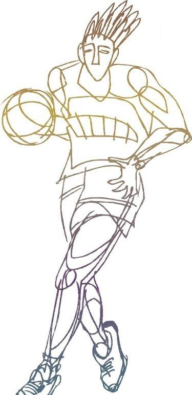 篮球手绘画字体