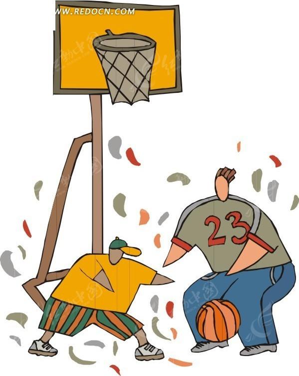 瘦子打篮球 蜥蜴打篮球 打篮球剪影 打篮球黑色剪影 小孩打篮球 线描