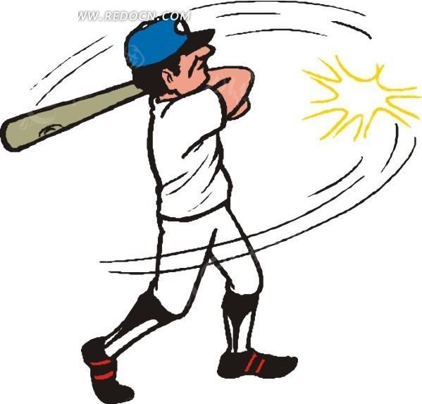 打棒球的卡通人物