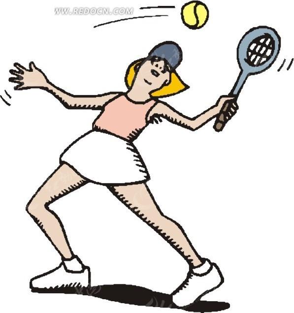 打网球的卡通人物