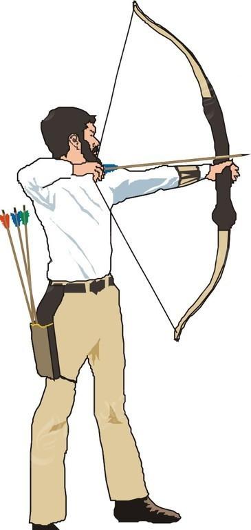 弓箭 人物 人物图片 体育运动 生活百科 矢量素材 eps