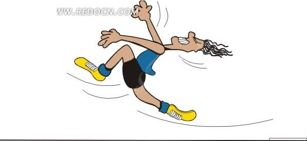 奔跑人物插画矢量素材