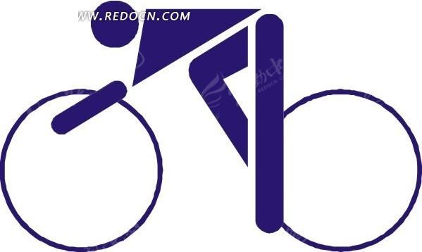 骑自行车的人物图形矢量图eps免费下载_体育运动素材