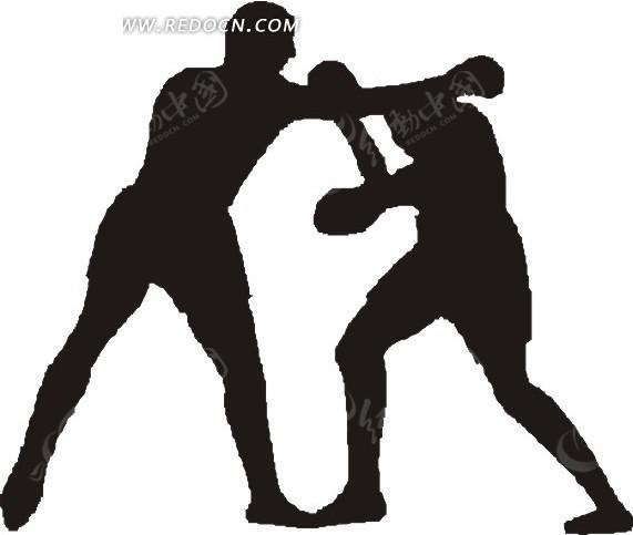 拳击人物剪影