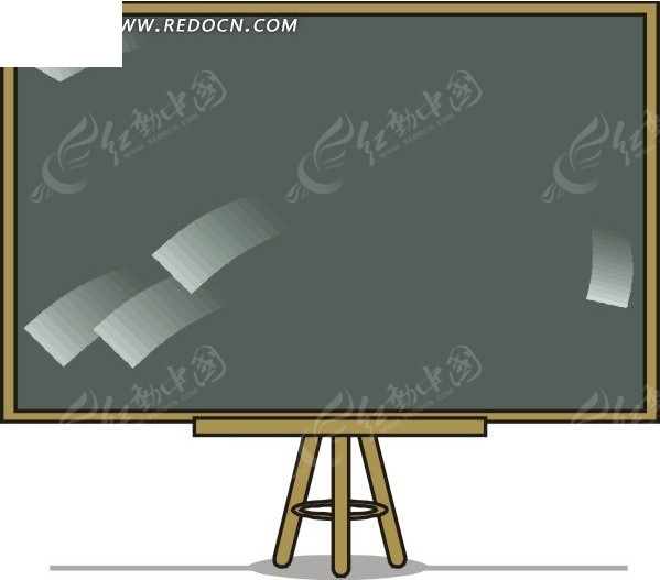 卡通黑板矢量图