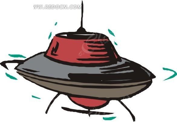 手绘 飞船 飞碟 eps素材 矢量 矢量素材 插画 卡通 科学研究 科技图片