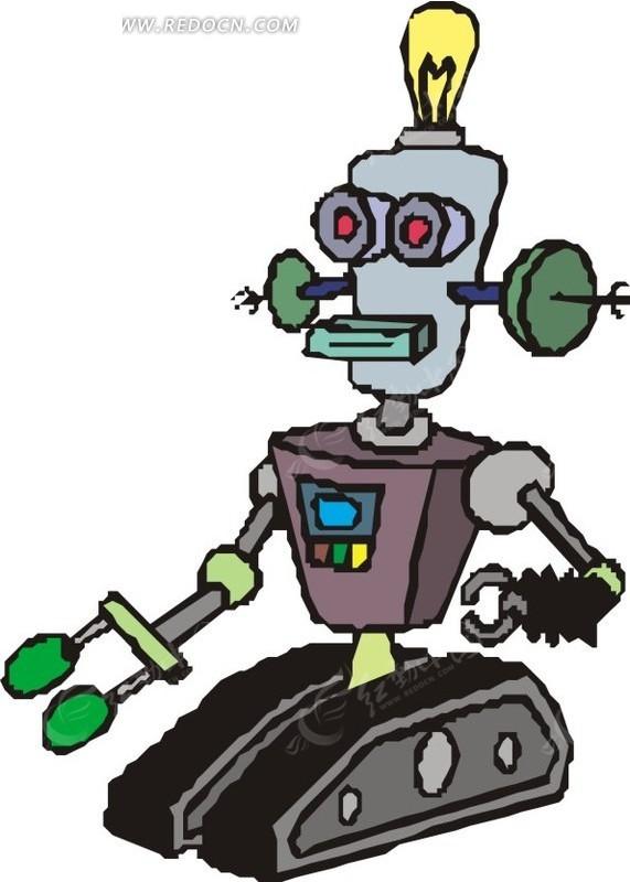 手绘机器人 科学研究 红动手机版