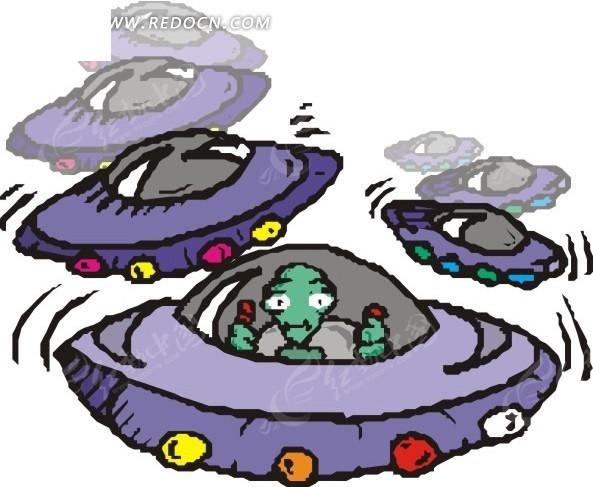 飞碟和外星人eps素材免费下载_红动网