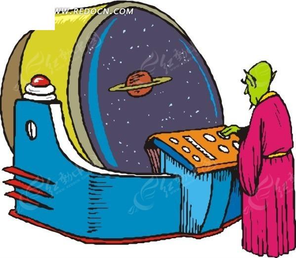 驾驶飞船的外星人