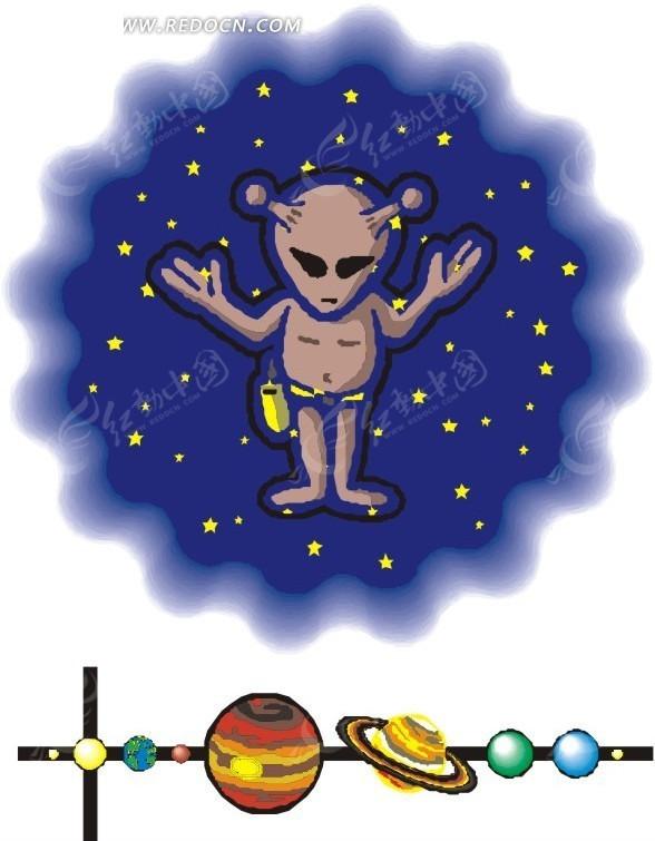 太空中的外星人图片