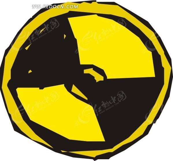 手绘核辐射标志eps素材免费下载(编号1583993)_红动网