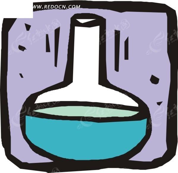 免费素材 矢量素材 现代科技 科学研究 手绘烧瓶