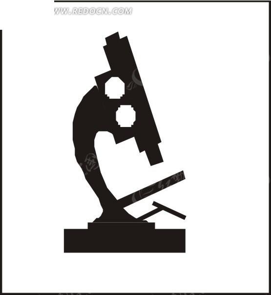 光学显微镜剪影图片