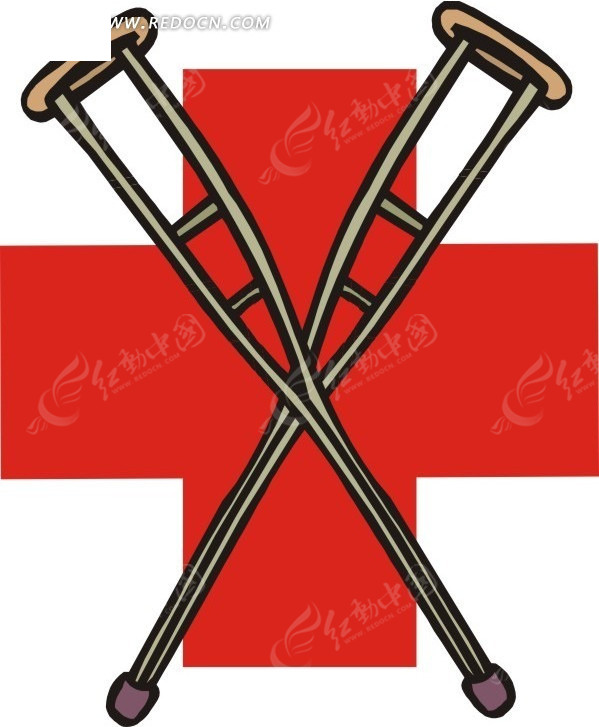 工业设计拐杖手绘