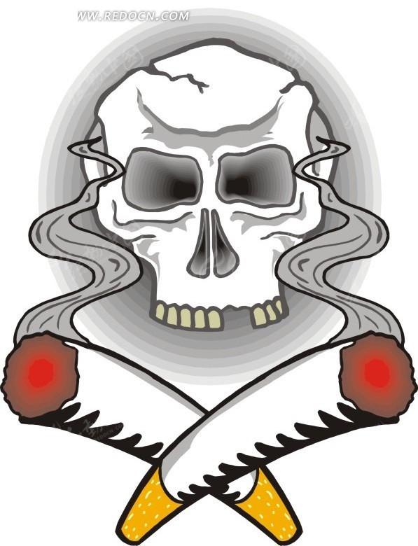 抽烟军人卡通头像