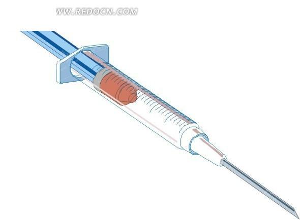 简笔画注射器_科学研究