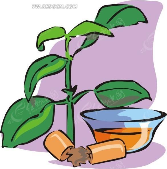 绿色植物和药丸eps素材免费下载(编号1587473)_红动网