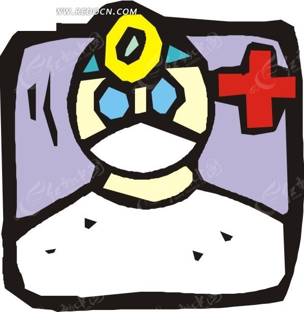 线描手绘医生
