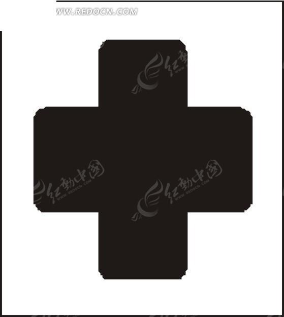 带圆角的医院十字架矢量素材