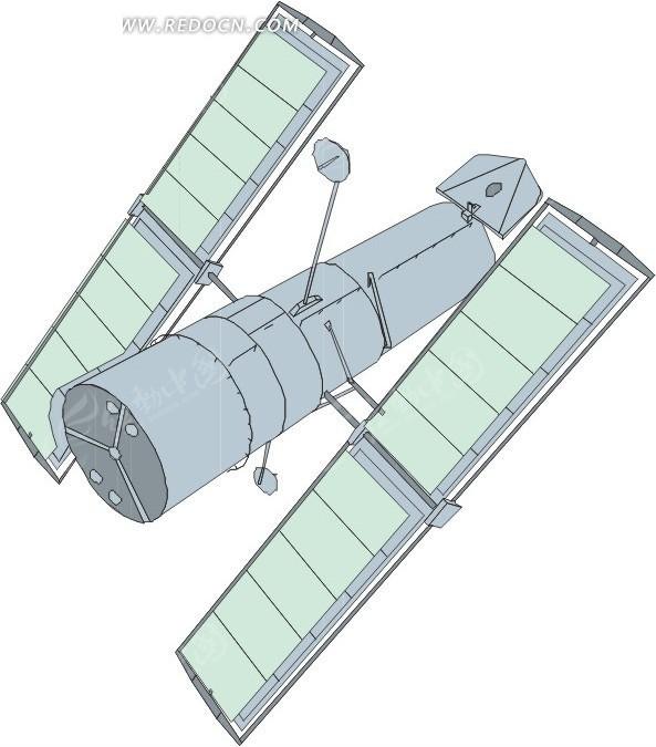 技术实验卫星 eps素材 矢量 矢量素材 插画 卡通 科学研究 科技图片