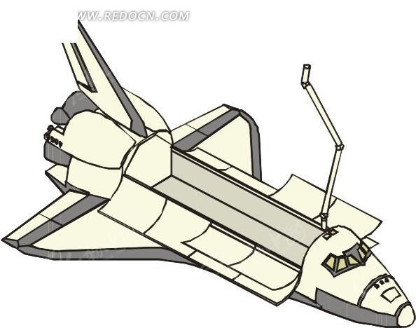 航天飞机 eps素材 矢量