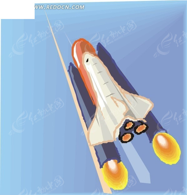 手绘 火箭 生活百科 矢量素材 eps 科学研究 科技图片