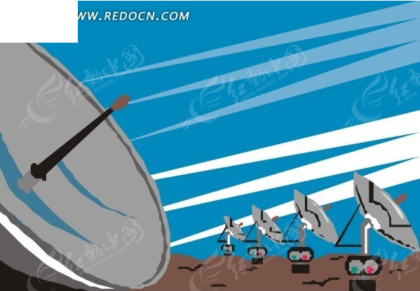 手绘 雷达 生活百科 矢量素材 eps 科学研究 科技图片