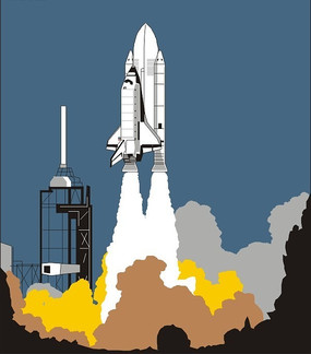 喷气式飞机发动机火箭点火发射视频 中国梦航天梦宣传海报设计 中国