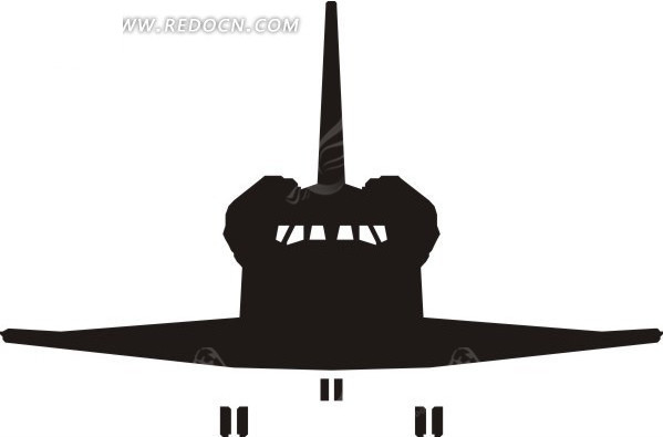 航空飞机剪影矢量图eps免费下载