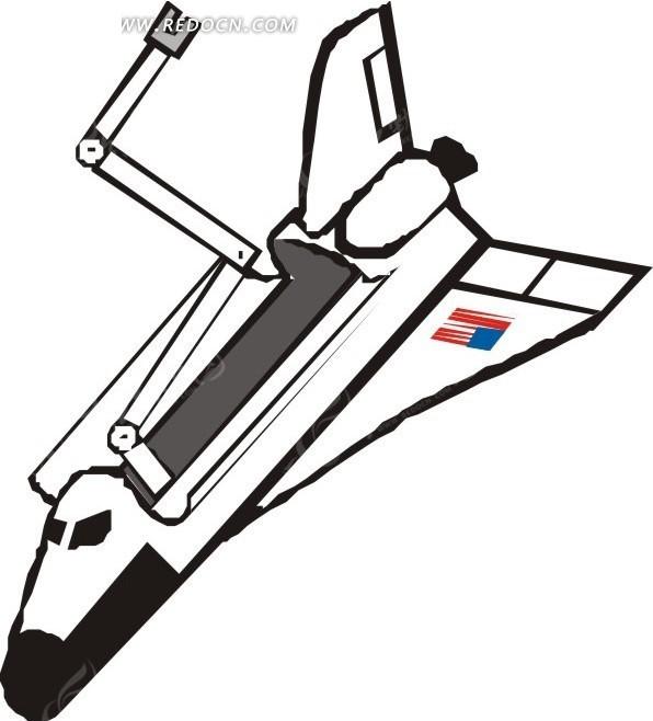 手绘 飞船 eps素材 矢量 矢量素材 插画 卡通 科学研究 科技图片
