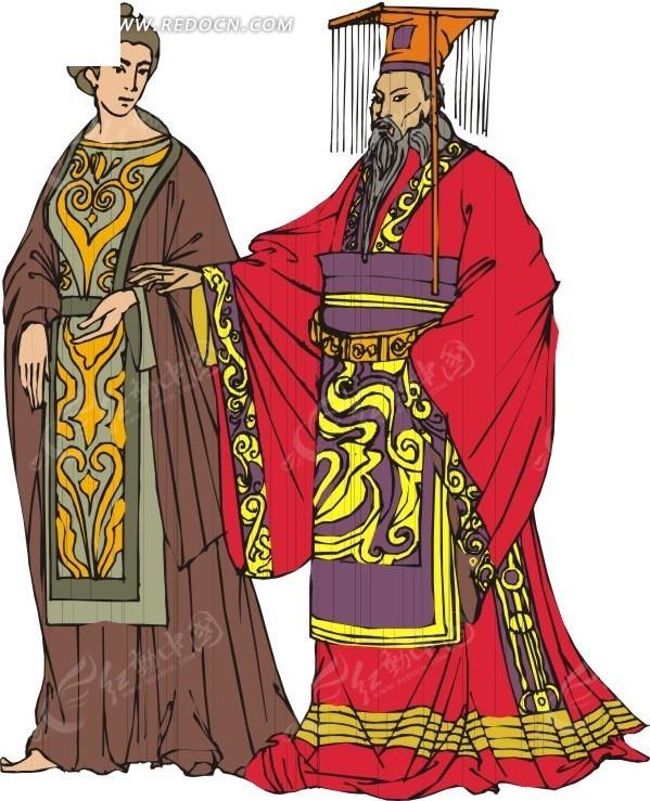 皇上 皇后 eps素材 矢量 矢量素材 插画 卡通 生活图片 人物素材 人物