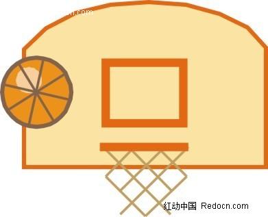卡通篮球框和篮球